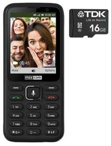 Maxcom 4G Unlocked SIM Free Smart Feature Mobile Phone - Black (MK241) + Free 16GB Memory Card - £18.99 Delivered @ MyMemory