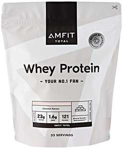 Amazon Brand - Amfit Nutrition Whey Protein Powder 1kg - Coconut £11.14 Amazon Prime (+£4.49 Non Prime)