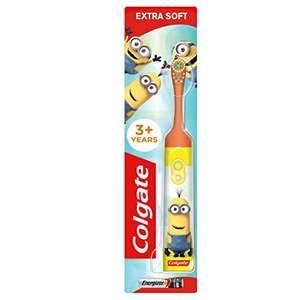 Colgate Kids Minions Extra Soft Battery Toothbrush, 3+ Years £3.50 prime / £7.99 non prime @ Amazon