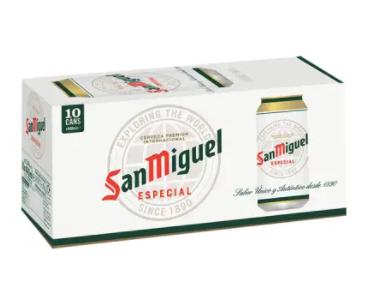 San Miguel 10x440ml £8.00 - Co-op