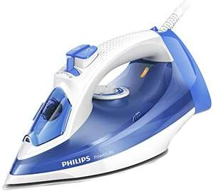 Philips PowerLife Steam Iron for Faster Crease Removal with 140 g Steam Boost, 2300W, Blue/White - GC2990/26 - £27.99 @ Amazon