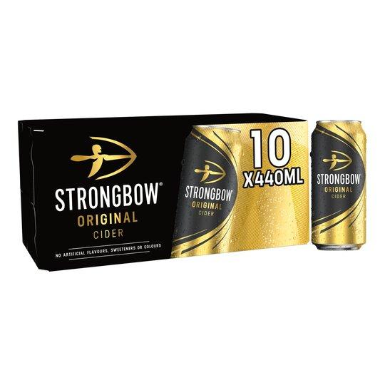Strongbow Original Cider Cans 10 x 440ml - £6 (Clubcard) @ Tesco