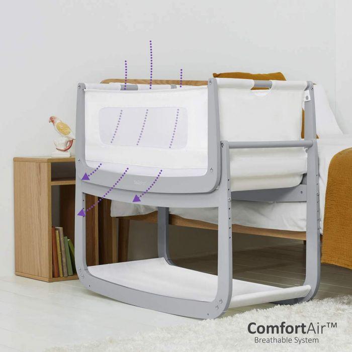 SnuzPod4 Bedside Crib & Mattress £169 (Mainland UK) at babyplanetonline - Various colours