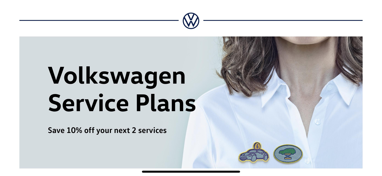 Volkswagen Service Plans 1 Major & 1 Minor @ 10% Off Till 12 May - £18.37pm or £440.99 Inc Vat at Volkswagen Car Service