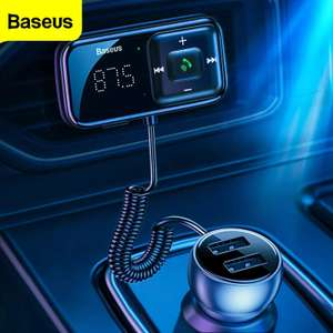 Baseus FM Transmitter Bluetooth 5.0 AUX 3.1A USB Car Charger £13.28 Delivered @ AliExpress / BASEUS Official Store