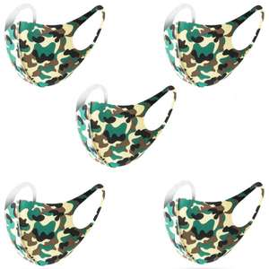 Washable Adult Fashion Face Mask - Forest Camo - 5 Pack - £3.99 Delivered @ MyMemory