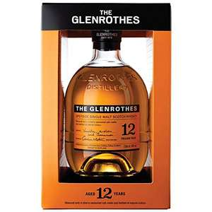 The Glenrothes 12YO Speyside Single Malt Scotch Whisky £32.84 / £27.91 Subscribe & Save at Amazon