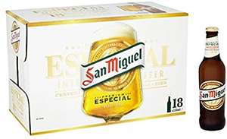 18 bottles (330ml) San Miguel £10.99 at Lidl Bentley