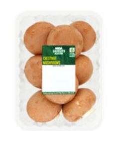 Growers Selection 250g Chestnut Mushrooms 65p @ Asda