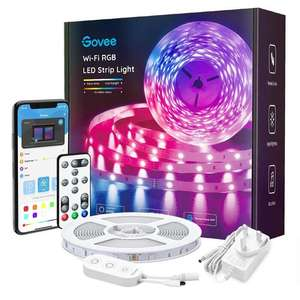 Govee 5M Smart WiFi RGB LED Strip Compatible with Alexa, App & Remote Control with Music Sync - £16.99 with code @ Govee UK / Amazon