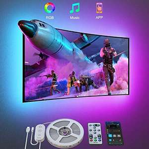 Govee TV LED Backlights 3m (fits 46-60 inch TVs) with APP control with RGB for £10.39 Prime (+£4.49) delivered with code @ Govee UK / Amazon
