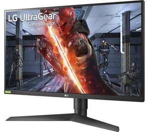 "LG UltraGear 27GN750 Full HD 27"" 240Hz 1ms G-Sync IPS Gaming Monitor £294 @ Currys PC World"