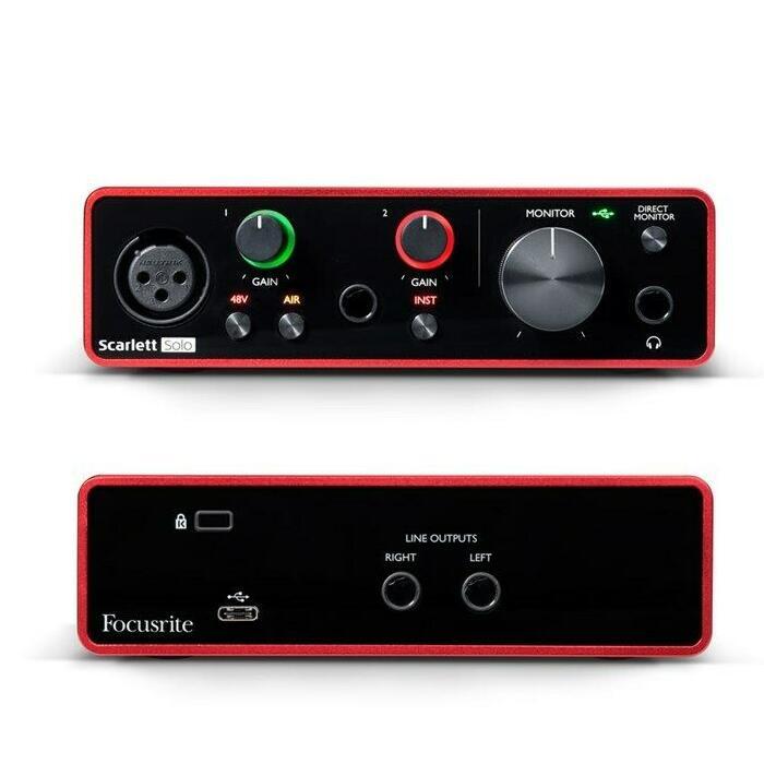 Focusrite Scarlett Solo USB Audio interface, 3rd Gen - Includes Software - £84.91 @ eBay / gak-music