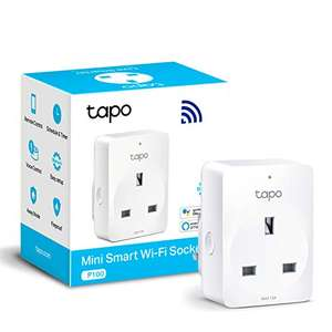 TP-Link Tapo Smart Plug Wi-Fi Outlet, Works with Alexa/Google, £8.99 (+£4.49 non prime) at Amazon