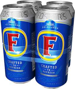 Fosters Beer Pint cans 4 pack £2.33 @ Asda St Austell