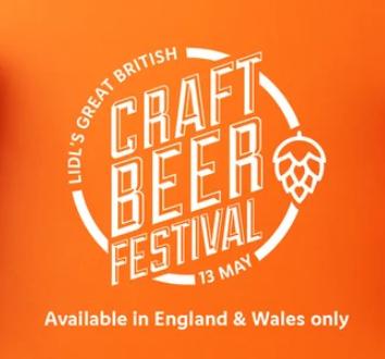 British Craft Beer Festival - e.g Dry-Hopped Lager, 4.3% £1.29 / Upstate, 5.0% £1.29 / Wychwood Firecatcher, 3.5% £1.29 @ Lidl