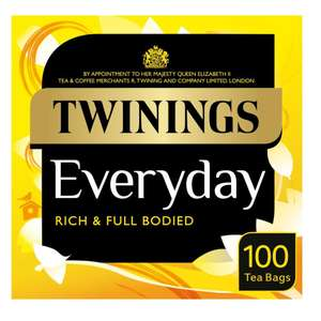 Twinings Everyday Tea 100 Tea Bags 290g £2.50 @ Waitrose & Partners
