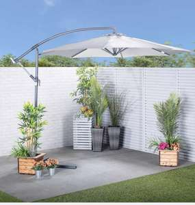 Robert Dyas - 3m cantilever parasol (base not included) - Grey £77.99 delivered with code @ Robert Dyas