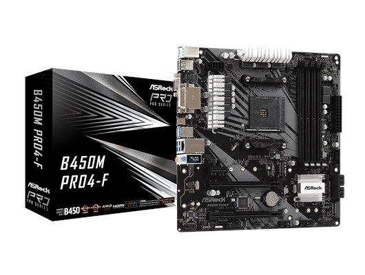 ASRock B450M Pro4-F AMD Socket AM4 B450 Chipset MicroATX Motherboard *Open Box* - £56.51 @ CCL Online