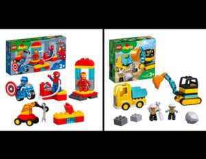 DUPLO LEGO Super Heroes Lab 10921 £18.50 & Truck & Tracked Excavator 10931 £13.50 at Tesco in store and online