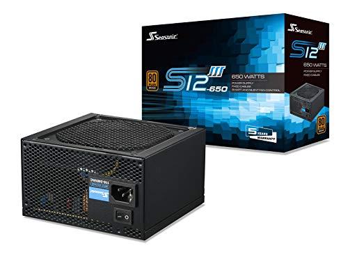 Seasonic S12III 650 - Non-Modular PC Power Supply Unit - 80 PLUS Bronze - 650 Watts - £51 @ Amazon sold by Scan Computers