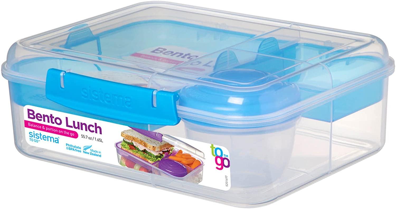 Sistema Bento Lunch Box to Go with Fruit/Yogurt Pot, 1.65 L - £5 Prime /+ £4.49 non Prime @ Amazon