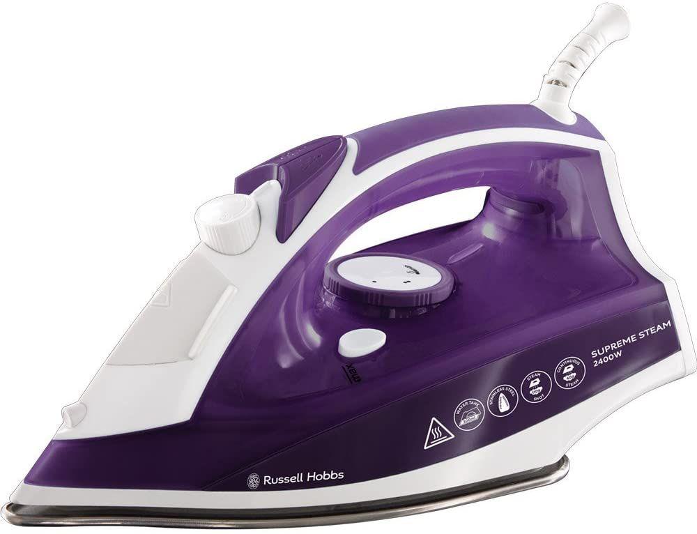 Russell Hobbs Supreme Steam Traditional Iron 23060, 2400 W, Purple/White £11.08 (£4.49 p&p non prime) @ Amazon