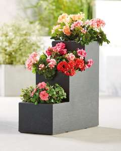 Anthracite Cube Planter Stairs £27.94 delivered @ ALDI