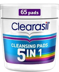 Clearasil 5 in 1 cleansing pads £4 prime / £10.49 nonPrime at Amazon