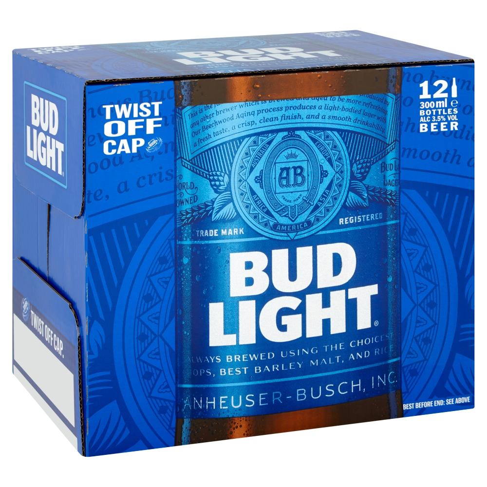Bud Light x12 300ml bottles - £3.50 @ Asda Portsmouth