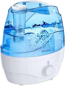 Homasy 2200ml Cool Mist quiet 28dB humidifier with 24 hour cycle for £20.99 delivered using voucher @ Home Mall EU / Amazon