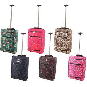 Lightweight Airline Approved Cabin Cases (Plain, or Patterned) £10 delivered @ Weeklydeals4less