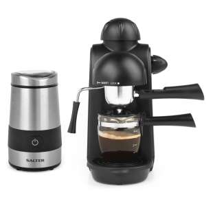 Salter Espressimo Barista Style Coffee Machine with Salter Electric Grinder £49.99 Delivered @ Robert Dyas