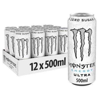 Monster 12 Ultra White Energy Drink 12x 500ml £8 at Asda