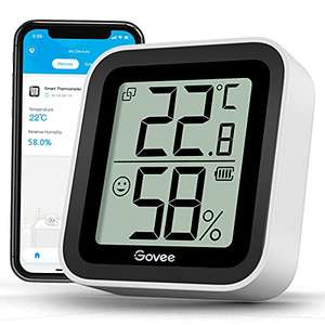 Govee Room Thermometer Hygrometer with Bluetooth and app notifications for £9.99 Prime delivered with code (+£4.49 NP) @ Govee UK / Amazon