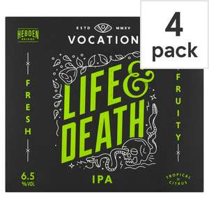 Vocation Life and Death IPA 4x330ml pack £3 - Asda Newton Abbot Instore