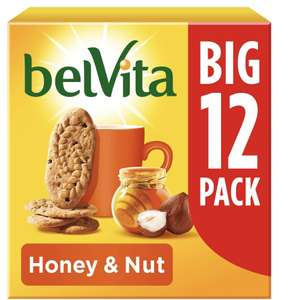 Belvita Honey Nut Breakfast Biscuit - Multipack , 12 portions 540g £3 Sainsbury's