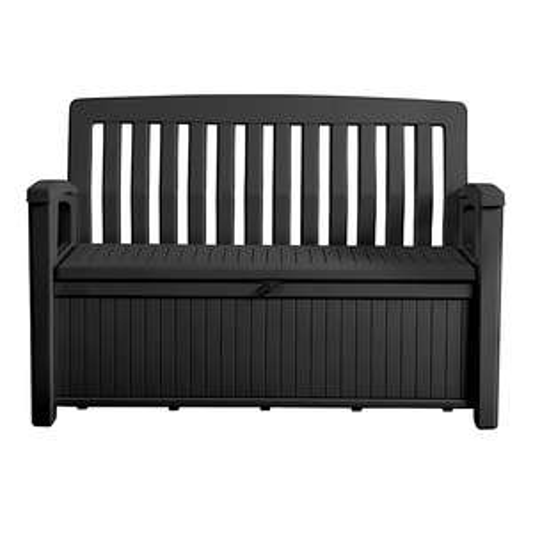 Keter Patio Wood effect Garden storage bench box £89 delivered @ Trade Point (B&Q)