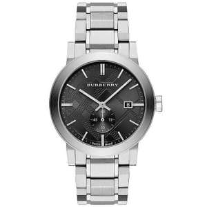 Burberry BU9901 men's silver-tone chronograph watch with black dial for £165 delivered using code @ Watch Pilot