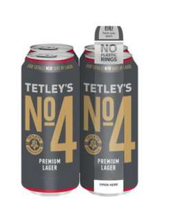 Try for FREE - Claim your money back on the purchase of your first 4x440ml can pack of Tetley's No.4 Premium Lager £4.50 @ Tesco instore
