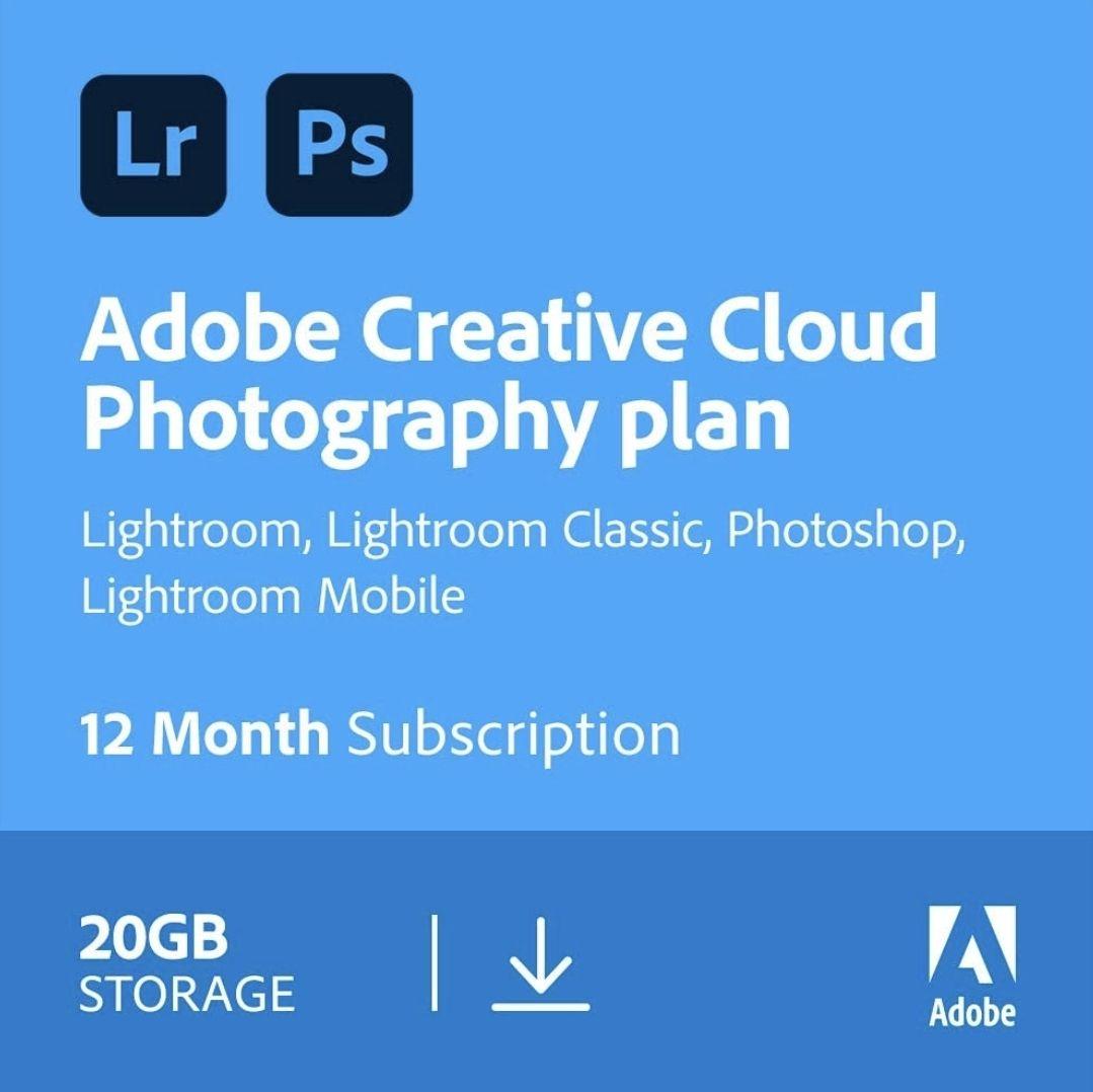 Adobe Creative Cloud Photography plan (Annual 20GB) £89.99 @ Amazon