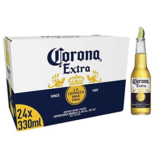Corona Extra Mexican Lager Beer Bottle, 24 x 330ml £17.29 Prime / £21.78 Non Prime @ Amazon
