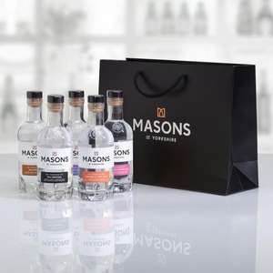 Gin Gift Set, 5 x 20cl Set of Gins £30 delivered @ Masons