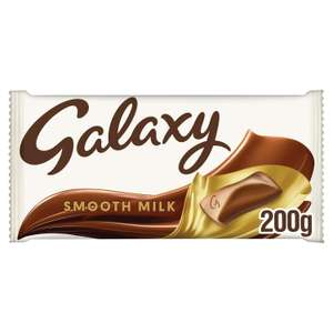 Galaxy Smooth Milk Chocolate 200g bar for £1.50 (min purchase / delivery fee applies) at Sainsburys
