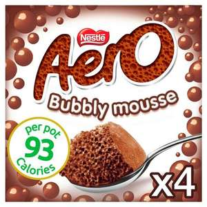 Aero Milk Chocolate Moose 4x59G - £1 @ Asda