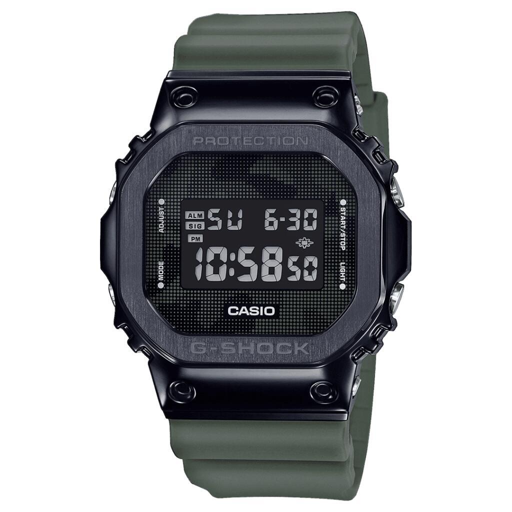 Casio G-Shock Metal Bezel Series Camouflage Digital Dial Green Resin Strap Quartz Men's Watch GM-5600B-3ER £99 @ WatchNation