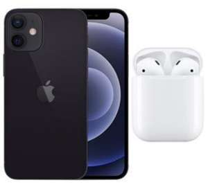 Apple Grade A Refurb - iPhone 12 Mini 5G 64GB Black / White Smartphone + Free AirPods 2019 - £579 / IPhone 12 + AirPods - £679 @ BT Shop
