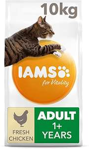 IAMS for Vitality Adult Dry Cat Food with Fresh Chicken, 10 kg + Other flavours - £24.99 @ Amazon