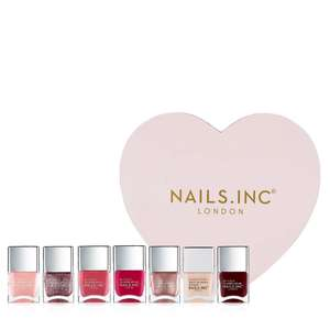 Nails Inc 7 Piece Work Heart Play Heart Collection & Box £33.93 Delivered (if new to QVC & use code FIVE4U to get £5 off) @ QVC