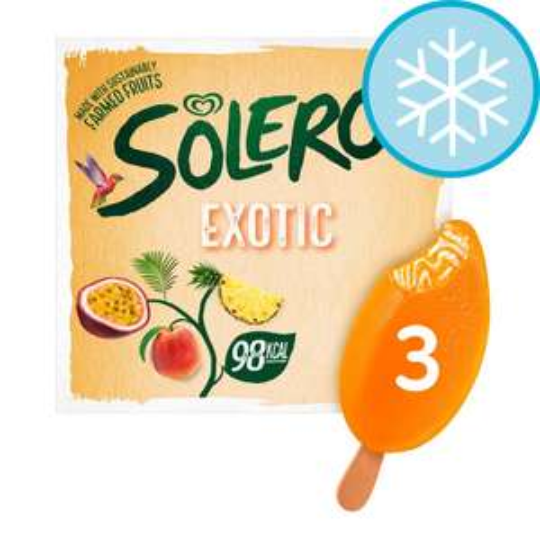 Solero Exotic Ice Cream 3 X 90Ml £1.50 Clubcard Price @ Tesco